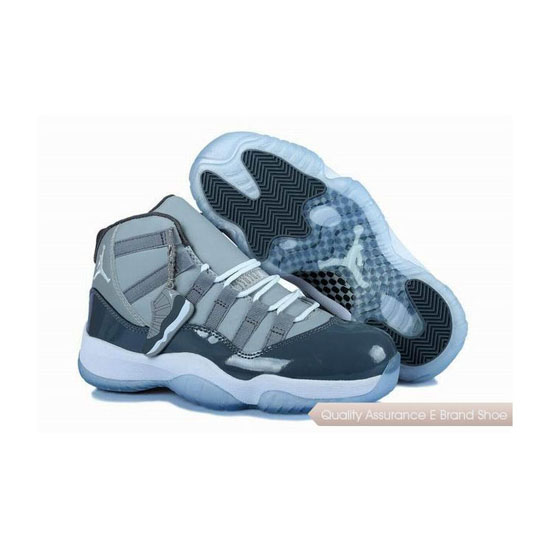 Nike Womens Air Jordan 11 Cool Grey Sneakers