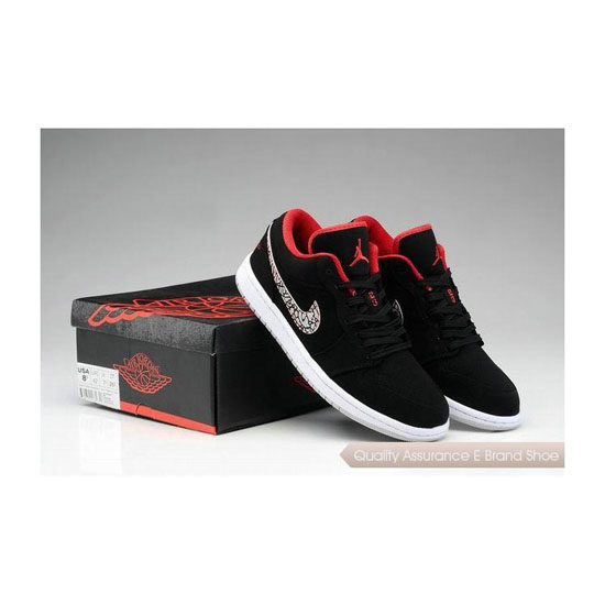Nike Air Jordan 1 Low Black/Red/Cement Grey Sneakers