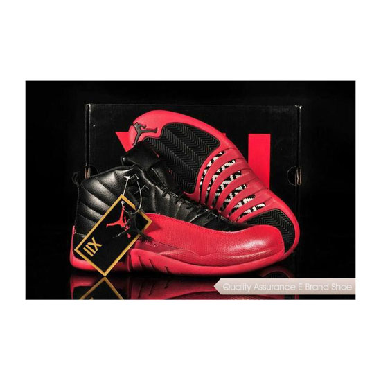 Nike Air Jordan 12 Remastered Version Black Red Sneakers
