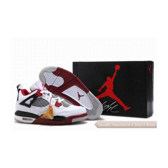 Nike Air Jordan 4 Retro Fire Red with Jade Tag Sneakers