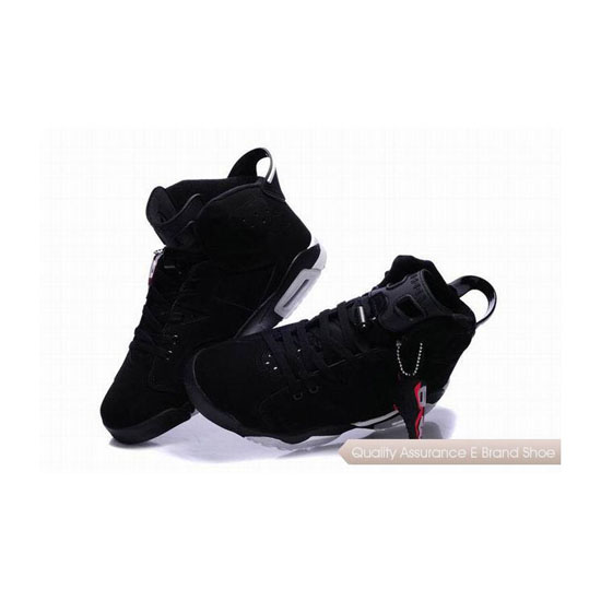 Nike Air Jordan 6 Black White with Plastic Tag Sneakers