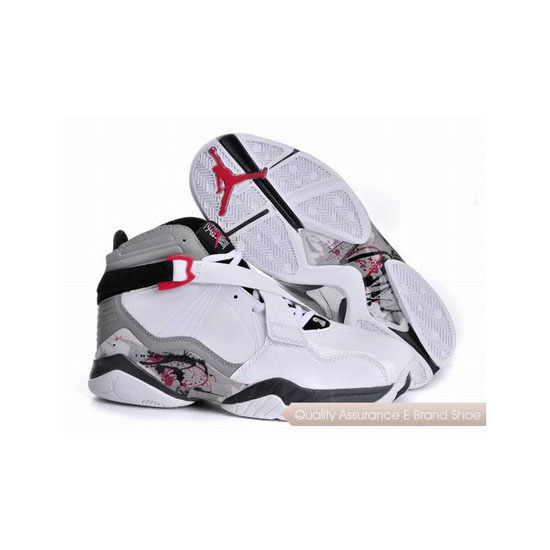 Nike Air Jordan 8 White Grey Black Sneakers