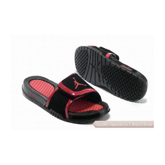 Nike Air Jordan Hydro 2 Slide Sandals Black Red Sneakers