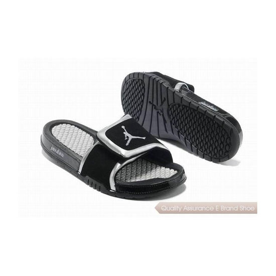 Nike Air Jordan Hydro 2 Slide Sandals Black White Sneakers