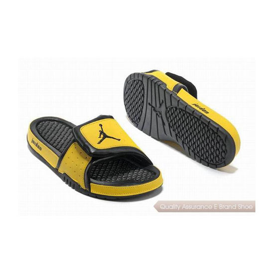 Nike Air Jordan Hydro 2 Slide Sandals Black Yellow Sneakers