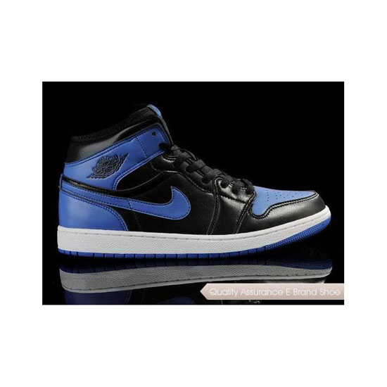 Nike Air Jordan 1 Black Blue Sneakers