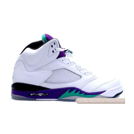 Nike Air Jordan 5 Retro Grape White 2006 Sneakers