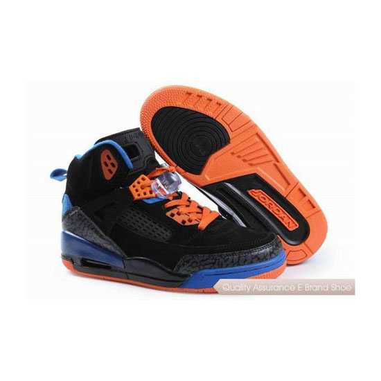 Nike Jordan Spizike Womens Suede Black Blue Orange Sneakers