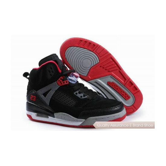 Nike Jordan Spizike Womens Suede Black Grey Red Sneakers