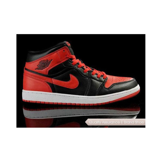 Nike Air Jordan 1 Black/Red Sneakers