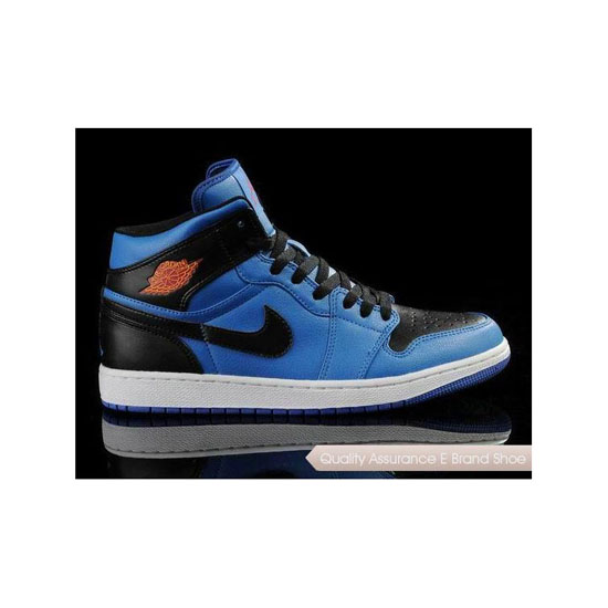 Nike Air Jordan 1 Black/Royal Blue Sneakers