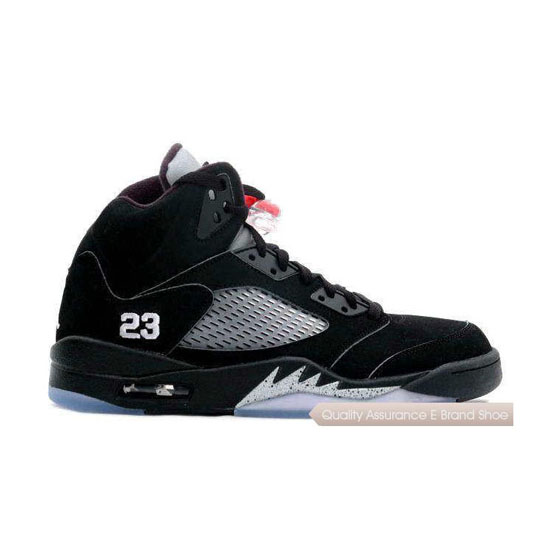 Nike Air Jordan 5 Retro Black-Red/Metallic Silver Sneakers
