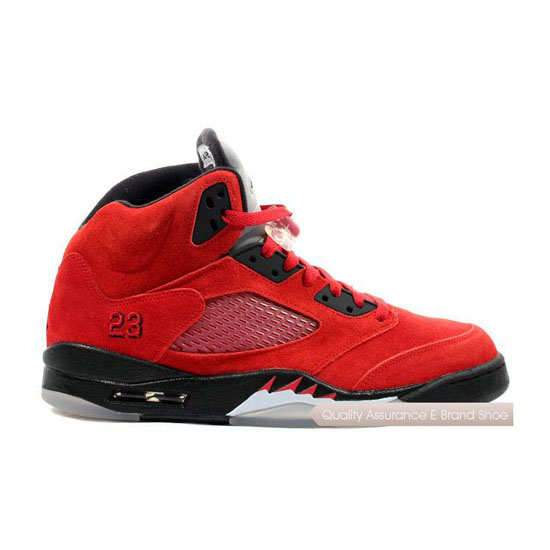 Nike Air Jordan 5 Retro Raging Bull Red Sneakers