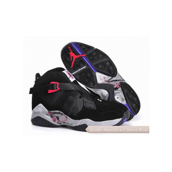 Nike Air Jordan 8 Black White Red Sneakers