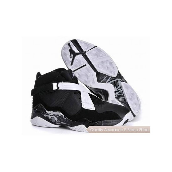 Nike Air Jordan 8 Black White Sneakers