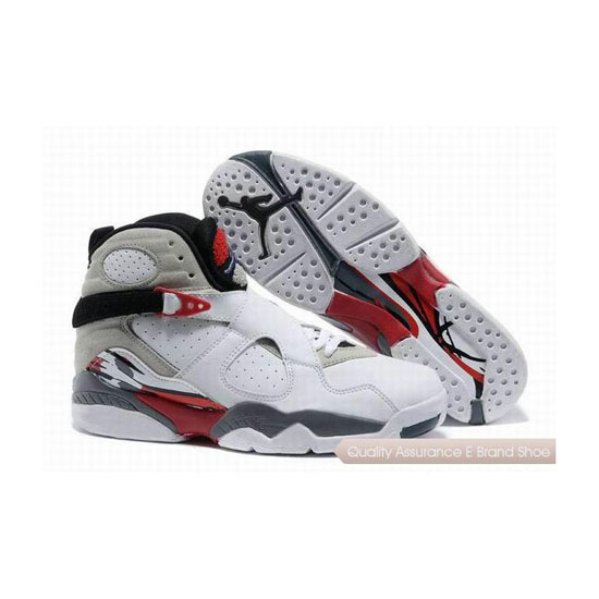 Nike Air Jordan 8 White/Black-True Red Sneakers