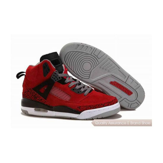 Nike Jordan Spizike Womens Suede Gym Red/Black-Grey Sneakers