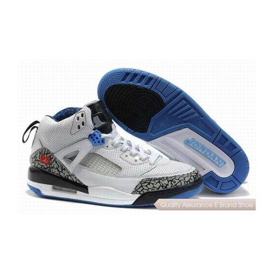 Nike Jordan Spizike Womens White Black Blue Sneakers