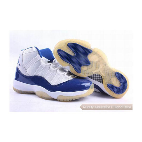 Nike Air Jordan 11 Retro White Blue Sneakers