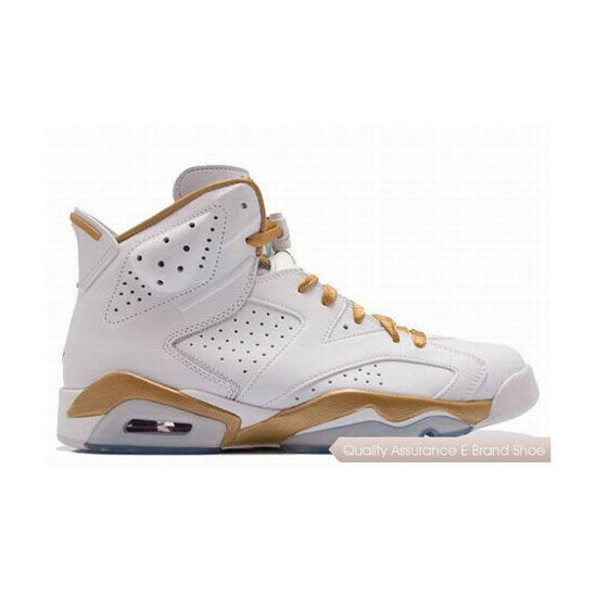 Nike Air Jordan 6 Gold Medal White/Gold Sneakers