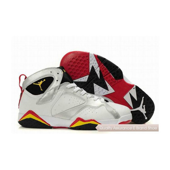 Nike Air Jordan 7 White Black Silver Red Yellow Sneakers