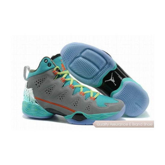 Nike Carmelo Anthony-Jordan Melo M10 Grey Orange/Jade Glaze-Volt Sneakers