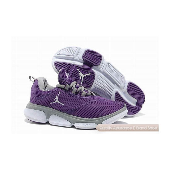 Nike Jordan RCVR Womens Purple Grey White Sneakers