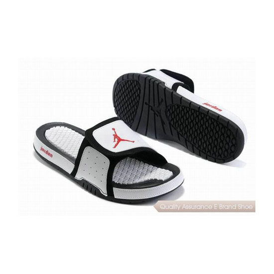 Nike Air Jordan 2 Retro White Black Red Hydro Slide Sandals Sneakers
