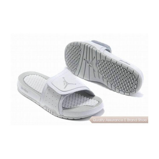 Nike Air Jordan 2 Retro White Grey Hydro Slide Sandals Sneakers