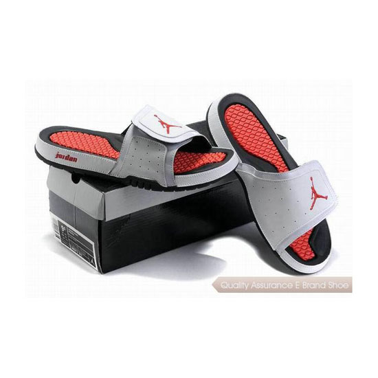 Nike Air Jordan 2 Retro White Red Hydro Slide Sandals Sneakers