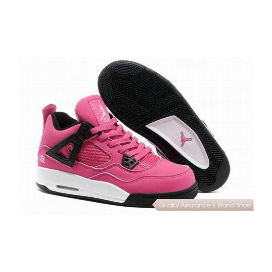 Nike Air Jordan 4 Womens Voltage Cherry/White-Black Sneakers
