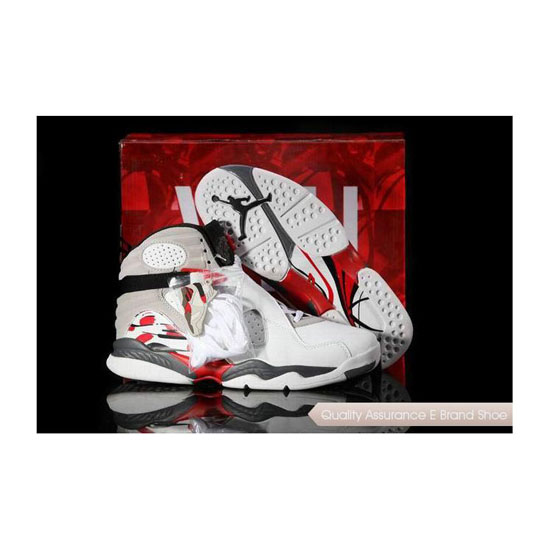 Nike Air Jordan 8 White/Hyper Blue-True Red-Flint Grey Sneakers