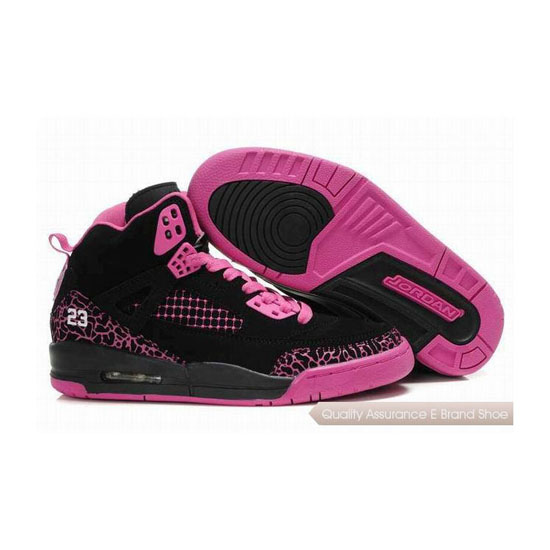 Nike Jordan Spizike Womens Embroidery Black/Dark Pink Sneakers