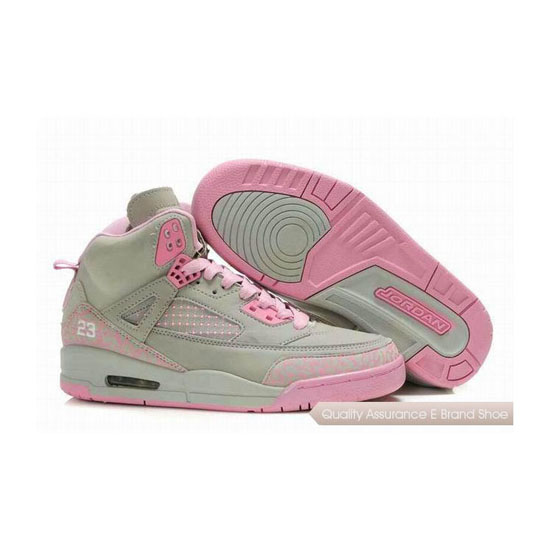 Nike Jordan Spizike Womens Embroidery Grey Pink Sneakers
