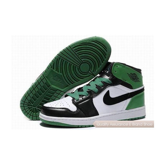 Nike Air Jordan 1 Retro White Black Green Sneakers