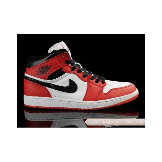 Nike Air Jordan 1 White/Black-Red Sneakers