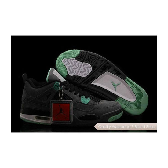 Nike Air Jordan 4 Retro Green Glow Sneakers