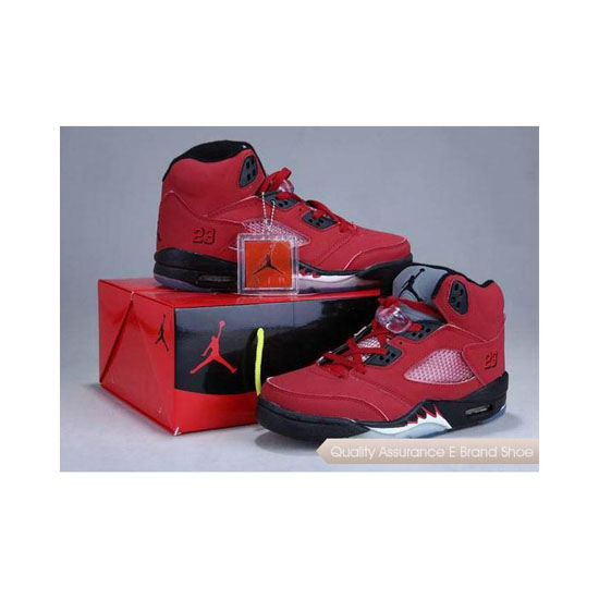 Nike Air Jordan 5 Shoes Box Red Black Sneakers