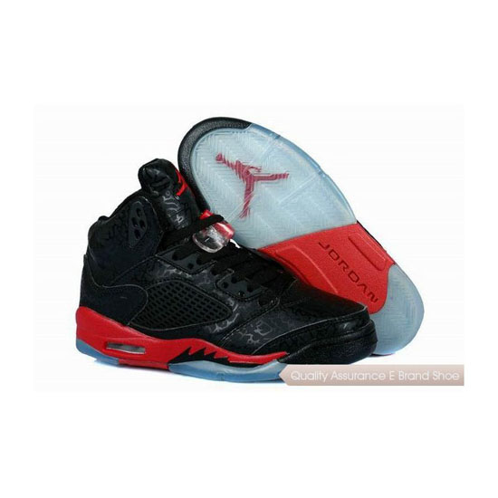 Nike Air Jordan 5 Womens 3LAB5 Black/Fire Red Sneakers
