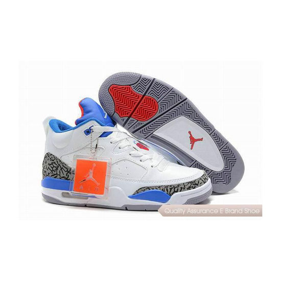 Nike Jordan Son of Mars Low White/Cement-Blue Red Sneakers