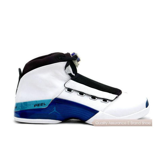 Nike Air Jordan 17 White/College Blue-Black Sneakers