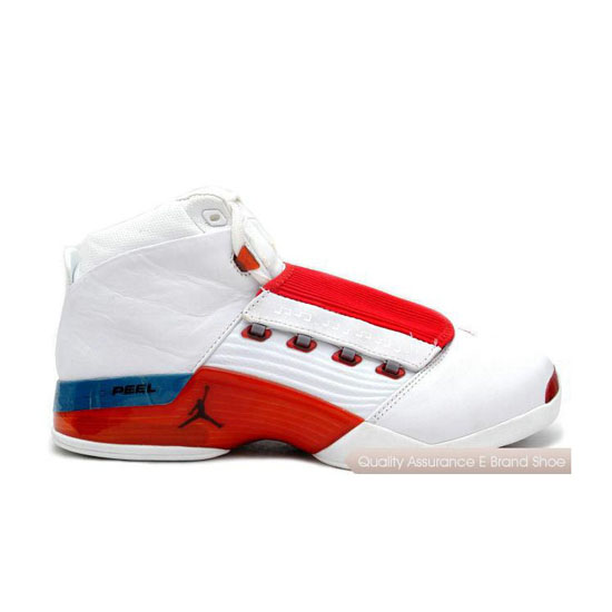 Nike Air Jordan 17 White/Varsity Red-Charcoal Sneakers