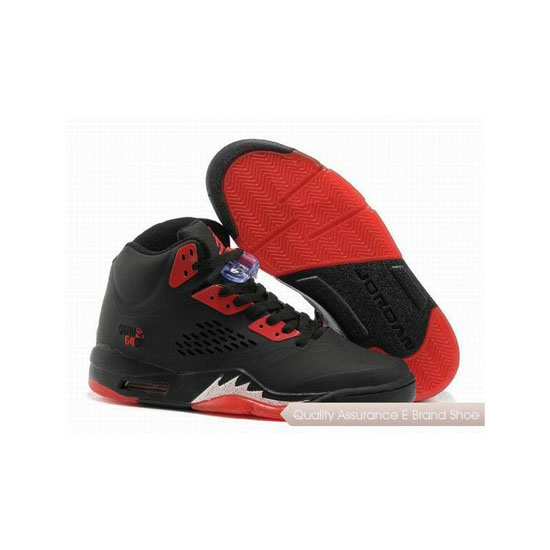 Nike Air Jordan 5 Black Red Sneakers