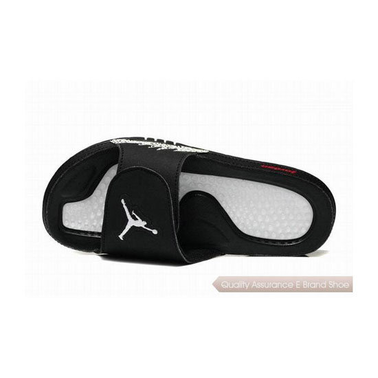Nike Jordan Hydro V Retro Slide Black/White-Gym Red Sneakers