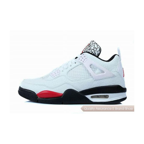 Nike Air Jordan 4 Temporal Rift by White Black Red Sneakers