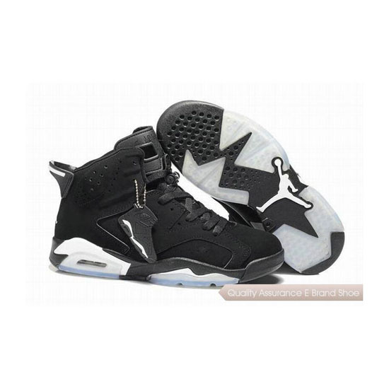 Nike Air Jordan 6 Retro Black White Sneakers