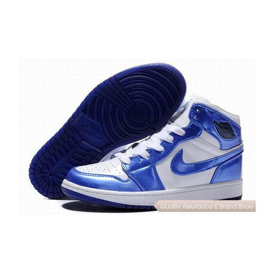 Nike Air Jordan 1 Retro Blue White Sneakers
