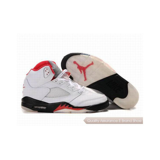 Nike Air Jordan 5 Fire Red White/Black Sneakers