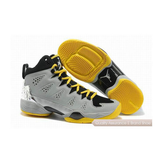 Nike Carmelo Anthony-Jordan Melo M10 Grey-Yellow/Metallic Silver Sneakers