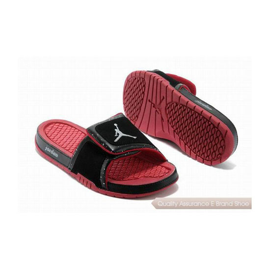 Nike Womens Jordan Hydro 2 Slide Black/Gym Red Sneakers